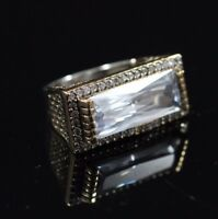 925 Sterling Silver Handmade Authentic Turkish Zircon Ladies Ring Size 9