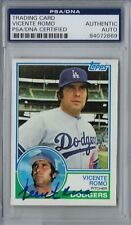 Vicente Romo SIgned 1983 Topps #633 Los Angeles Dodgers PSA Autographed