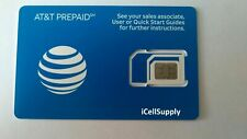 New At&T Gsm Sim Card Never Activated 3G, 4G Lte Prepaid
