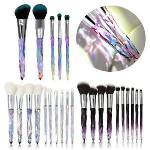 5Pcs Glitter Crystal Makeup Brushes Kit Powder Eye Shadow Blending Brush Set