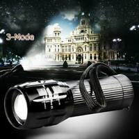 2000 Lumen Zoomable Q5 LED 3 Mode Flashlight Torch Zoom Lamp Light AAA #D