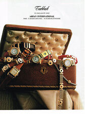 PUBLICITE ADVERTISING 064  1990  TABBAH ARFAN INTERNATIONAL collection montres