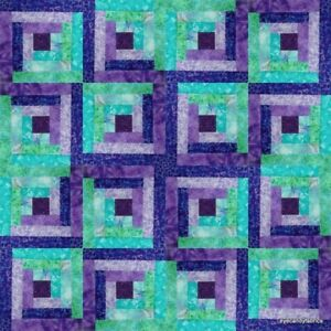 16 Block Log Cabin Batik Quilt Kit pre-cut SUMMER BREEZE 2020   eyecandyfabrics