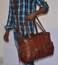 Hot Leather Messenger Real Satchel Genuine Laptop Brown Briefcase Bag
