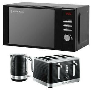 Microwave Kettle Toaster Set Black Russell Hobbs Buy Gift RHM2064B 20L Mar Sale