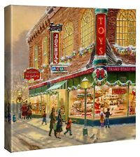 Thomas Kinkade Studios A Christmas Wish Lionel Train 14 x 14 Wrapped Canvas