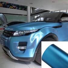 3D Vinyl Car DIY Wrap Sheet Roll Sticker Decal Body Film 300mm*200mm Light Blue