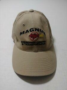 Magnum Corrosion Control & Transportation Beige Flexfit Hat Cap Size S/M