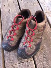 Youth Kids 4 KEEN PAGOSA WP LOW Waterproof Red Lace Hiking Shoes Tennis