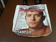 Justin Timberlake 2004 Rolling Stone Magazine Cover Tote Bag New With Tags a2