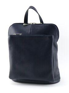 NAVY leather BACKPACK dark blue ITALIAN leather RUCKSACK versatile shoulder BAG
