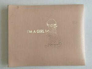 """Vintage Gibson """"I'm A Girl"""" Baby Record Memory Book Helen Moore NEW IN BOX Pink"""