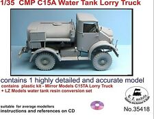 LZ MODELS CMP C15A WATER TANK LORRY TRUCK + RESIN SET  Scala 1/35 Cod.35418