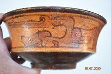 "Sale! Pre Columbian Mayan Crypt Bowl, birds 6"" Prov"