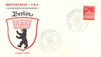 "BERLIN 1966 30 Pfg. Brandenburger Tor Rollenmarke a. Kab.-FDC m. ESST ""TRIER"" R!"