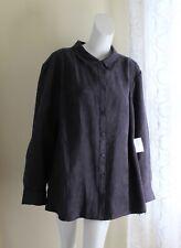 NWT Catherine's -Sz 3X Anthracite Gray Art-to-Wear Lux Moleskin Shirt Jacket
