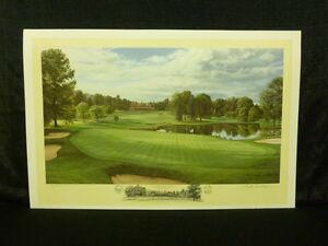 Linda Hartough Signed Hole 4 at Baltusrol Golf Club 1993 US Open A/P Lithograph
