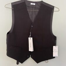 Calvin Klein Boys LG 14/16 NWT Slim Fit Suit Separates Black Vest