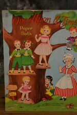 Vintage Saalfield Once Upon A Time Paper Doll Activity Book W/ Free Shipping