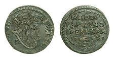 pcc1330_1) Ferrara St Pontificio Benedetto XIV (1740-1758) 1/2 BAIOCCO 1747 rara