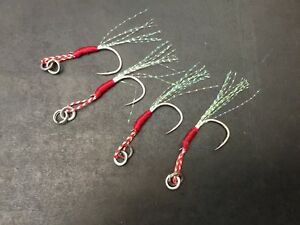 4x BKK Micro jig assist hooks flasher stinger hook inchiku demersal octo jigs