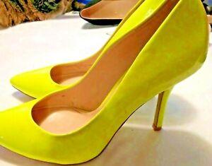 enzo angiolini women's size 8 M yellow pumps