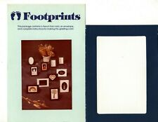 Vintage Cross Stitch Design Baby Footprint French Fold Greeting Card Instruction