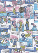 NUSERY RHYME FABRIC IN AN OLD FASHION THEME 2 1/2 yds x 44 inches