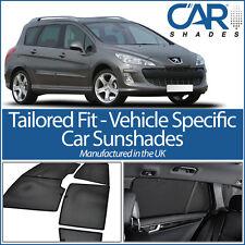 Peugeot 308 Estate 08- UV CAR SHADES WINDOW SUN BLINDS PRIVACY GLASS TINT BLACK
