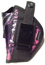 Jennings 48 9mm 13-Shot | Muddy Girl Nylon Gun Holster OWB Pink Purple Camo