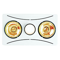 HPM 2x275W BATHROOM HEATER 3-in-1 Exhaust Fan, Light, Heater, Rectangular WHITE
