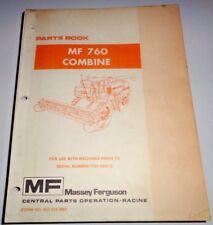 Massey Ferguson MF 760 Combine Parts Catalog Manual Book prior to s/n1746 009413