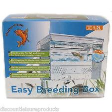 Superfish 1.2L Aquarium Fish Tank Easy Breeding Box Fry Hang On Hatchery Breeder