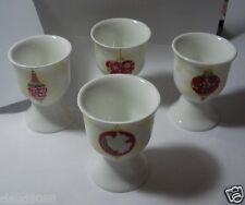 MAXWELL & WILLIAMS BAUBLES SET OF 4 FINE PORCELAIN EGG CUPS  AA87403 MINT IN BOX