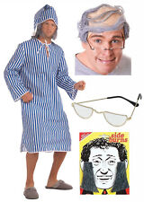 Scrooge Old Man Grandad Fancy Dress Costume Comb Over Wig Glasses Side Burns