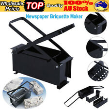 BRIQUETTE RECYCLE NEWS PAPER LOG MAKER FOR FIREPLACES STOVES BBQ'S BRICK BLOCK