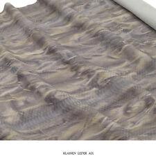 Kalbsleder Reptil Python Design 1,2 mm Dick Echt Rindsleder Haut Leather Z119