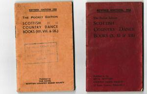 2 Editions of Scottish Country Dance Books (VII. VIII. IX. X. XI. XII) PB
