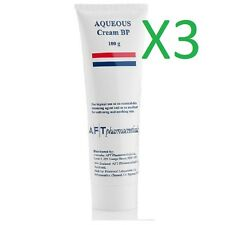 3 x  Aqueous cream BP 100g tub or tube dry skin mosituriser