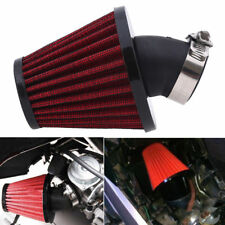 Motorcycle 48mm Red 45 Degree Air Filter For Yamaha DT250 XS250 XS400 XT500 PE