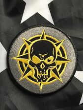 KILL ICON Military Black Ops SWAT Paintball Airsoft Tactical Hk/Lp Patch Yellow