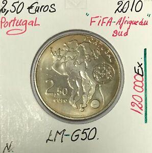 PORTUGAL - 2 EURO 1/2 - 2010 - FIFA Afrique du Sud // Qualité : NEUVE