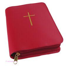 Gotteslobhülle Gotteslob Hülle echt Leder rot Kreuz NEUES Gebetbuch Buchhülle