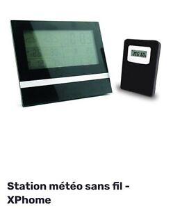 Station Météo Intérieure Extérieure sans Fil Ecran Horloge Numérique Thermomètre