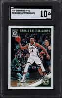 2018 Donruss Optic #85 GIANNIS ANTETOKOUNMPO Milwaukee Bucks SGC 10 GEM MINT
