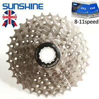 SUNSHINE KMC 8/9/10/11Speed Road Bike Cassette Chain 11-25/28/32/36 Sprocket