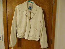 Misses IZOD XL -Off White Zip Up Jacket- Great Condition