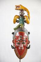AI5 Guro Baule Maske alt Afrika / Masque Gouro ancien / Old tribal mask Africa