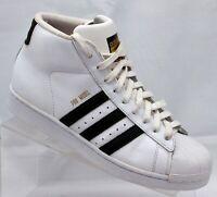 Adidas Originals Pro Model Superstar Gold Logo White Black Men Size 8.5 S85956
