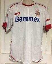 Men's XL Soccer Jersey Banamex  Diablos Rojos Toluca Futbol Club White Corona